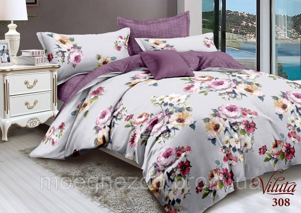 Семейное постельное белье сатин Вилюта