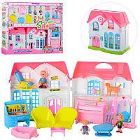 Будиночок ляльковий 3907-1 меблі, фігурки, в коробці, 52,5-37,5-6,5 см