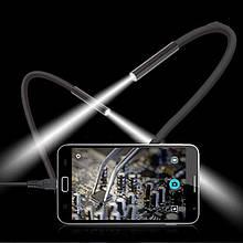 Эндоскоп бороскоп камера USB + OTG Перходник для смартфона, планшета