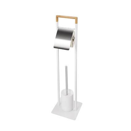 Стійка туалетна для туалетного паперу та щітки біла AWD02071448