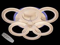 Светодиодная люстра  с пультом -диммером цветной подсветкой белая  А-3003-6, фото 1