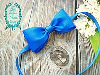 Галстук-бабочка для мальчика голубой
