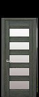 Межкомнатные двери Бронкс с стеклом сатин Дуб графит