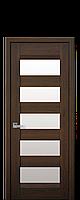 Межкомнатные двери Бронкс с стеклом сатин Дуб шоколадный