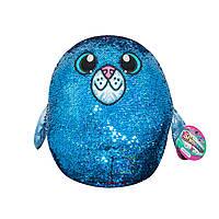 Мягкая игрушка с пайетками Shimmeez S2 - Тюлень Аква 36 см (SH01054S)