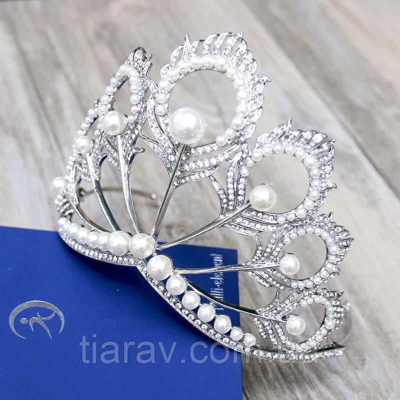 Тиара высокая диадема НАОМИ корона украшения для волос