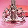 Тиара высокая диадема НАОМИ корона украшения для волос, фото 6
