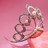 Тиара высокая диадема НАОМИ корона украшения для волос, фото 10
