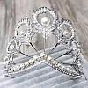 Диадема высокая тиара НАОМИ корона на голову, фото 5