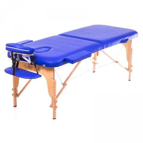 Двухсекционный массажный стол складной ASPECT cream (светло-бежевый)  (PVC)