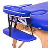 Двухсекционный массажный стол складной ASPECT cream (светло-бежевый)  (PVC), фото 3