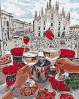 Картина по номерам на холсте Романтическая встреча, KHO4565