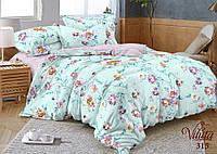 Полуторное постельное белье сатин Вилюта