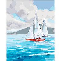 Картина по номерам на холсте Яхта в море, KHO2726