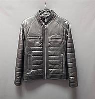 Кожаная куртка на мальчика подростка цвет черный