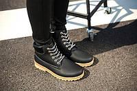 Черные мужские ботинки, фото 1