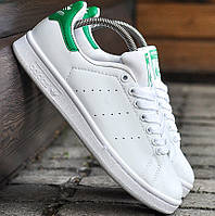 Мужские и женские кроссовки Adidas Stan Smith White Green