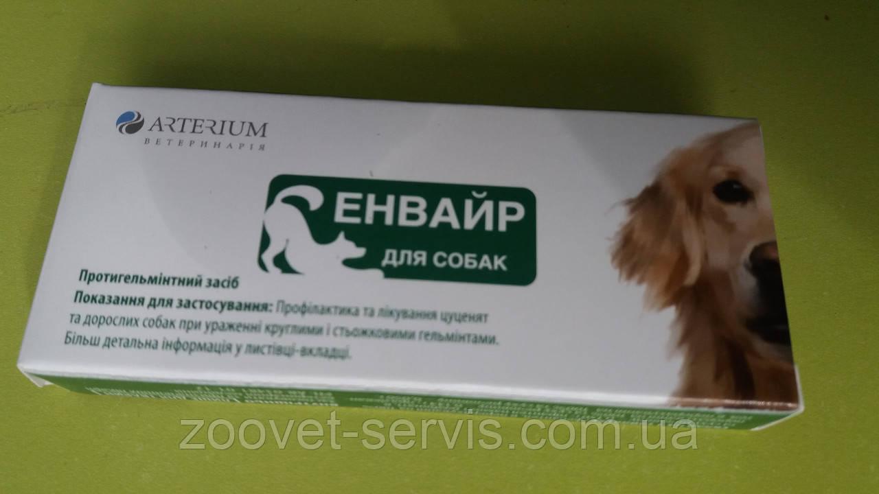 Энвайр - таблетки от глистов для собак Артериум