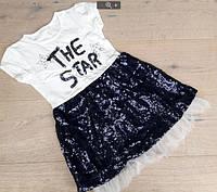 Летнее платье для девочек от 110 до 140 см рост, фото 1