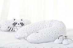 Подушка для кормления IDEIA 30х170 см Горох/Звездочка