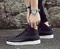 Черные мужские кроссовки на шнуровке, фото 1