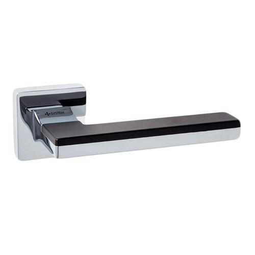 Ручка дверная System LARISSA HA100 RO11 CR-CR/AL6 хром/хром/черные вставки