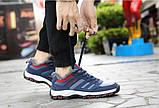 Синие зимние кроссовки с мехом внутри, фото 5