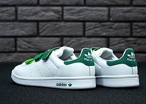Женские кроссовки Adidas Stan Smith CF White/Green, фото 3