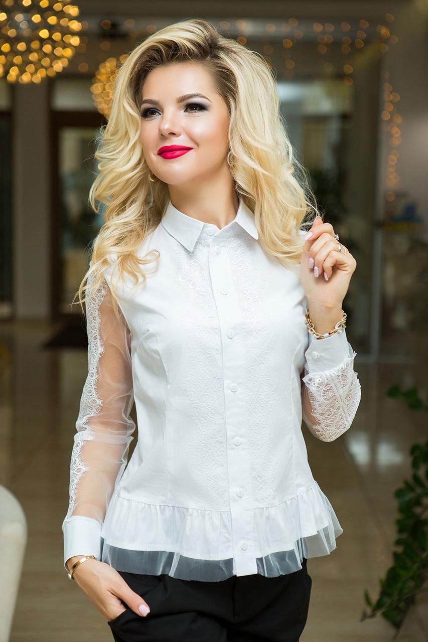 Гелла нарядная белая Рубашка