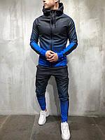 Спортивный костюм мужской черный с синим весна осень лето спортивный костюм градиент РАЗНЫЕ ЦВЕТА