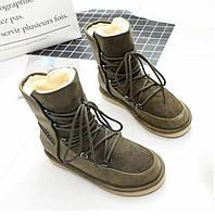 Валенки на шнуровке зеленые, фото 1