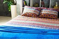 Комплект постельного белья + плед набор Гармония Единая страна евро
