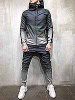 Спортивный костюм мужской черный с белым  весна осень лето спортивный костюм градиент  РАЗНЫЕ ЦВЕТА