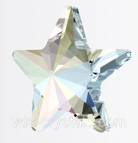 Кристаллы Swarovski горячей фиксации (термоклеевые) 2816 Rivoli Star Flatback Crystal AB F 5 мм (упаковка 720)