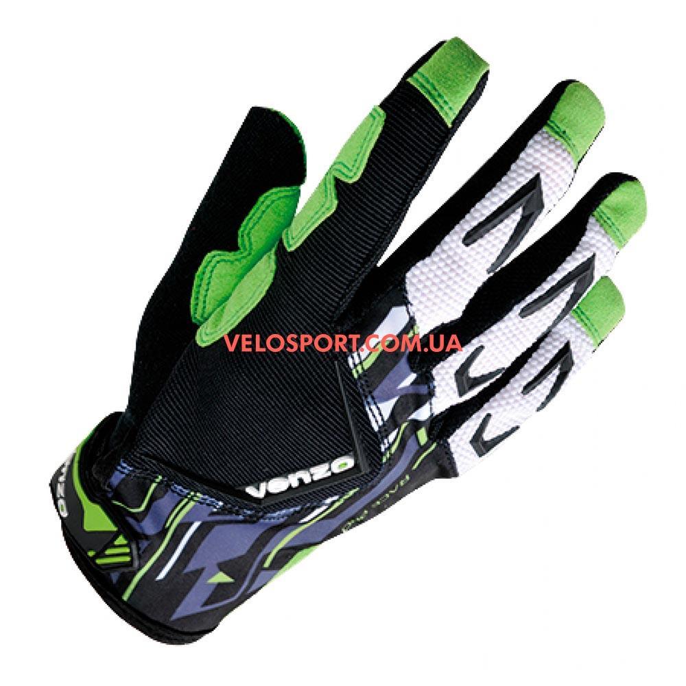 Велоперчатки VENZO VZ-F29-006 с пальцами L зеленые