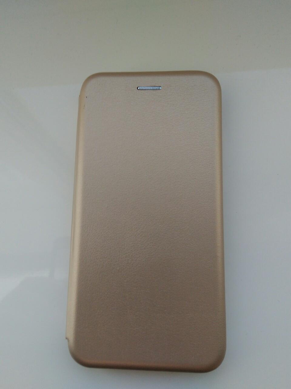 Чехол- книга Premium для Xiaomi MI 8  (gold)