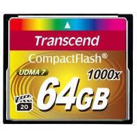 Карта памяти Transcend Compact Flash 64GB 1000x (TS64GCF1000)