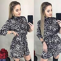 Женское модное платье с принтом (норма и батал)