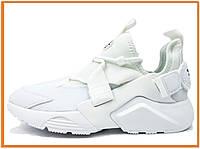 Женские кроссовки Nike Air Huarache City White (найк аир хуарачи, белые)