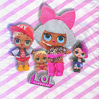 "Салфетки ""Куклы L.O.L"". В упак: 15шт."