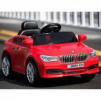 Детский электромобиль БМВ BMW M 3271 EBLR-3 красный (белый, черный). Колеса EVA, кож. сиденье, свет, USB, MP3.