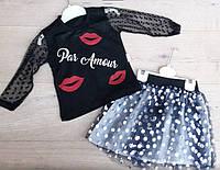 Летний костюм для девочек от 2 до 6 лет, фото 1