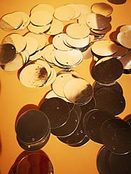 Пайетки сумочные 30 мм, цвет золотой