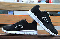 Дышащие легкие мужские кроссовки черные, фото 1