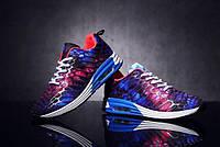 Мужские кроссовки с фиолетовым принтом космос, фото 1
