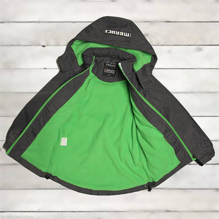 Куртка-парка демисезонная Grace для мальчика 7-8 лет серая, фото 2