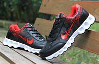 Кроссовки беговые мужские двухцветные черный + красный, фото 1