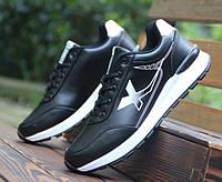 Кроссовки мужские двухцветные черный + белый, фото 1