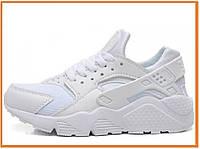 Женские кроссовки Nike Air Huarache White (найк аир хуарачи, белые)