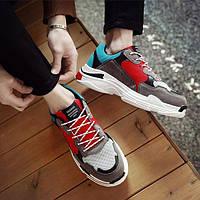 Серые недорогие кроссовки для парней